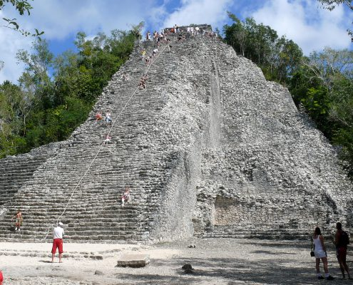 Nohoch Mul Pyramid at Coba Archaeological Site