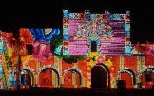 Light & Sound events in San Bernardino de Sisal Convent, Valladolid, Yucatan