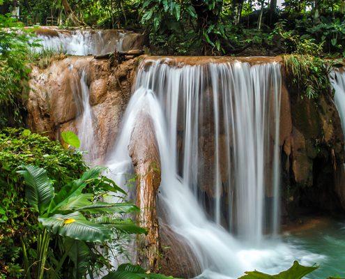 Waterfalls in Agua Azul Chiapas, Mexico