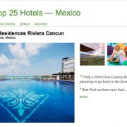 Grand Residences Riviera Cancun Puerto Morelos, Mexico in Trip Advisor Mexico's Top Hotels list