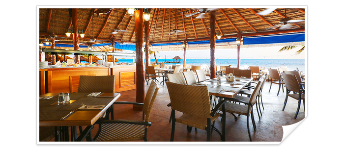 La Palapa at the Royal Cancun famous for its spectacular views of the bay