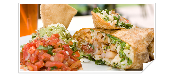 Delicious wraps at Sol y Luna Grill Restaurant, The Royal haciendas