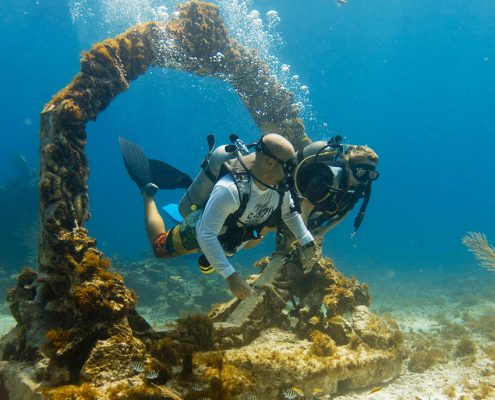 Statues in the Cancun Underwater Museum