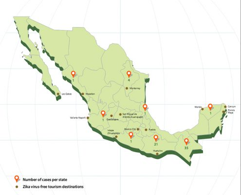 Zika virus free tourism destinations in Mexico