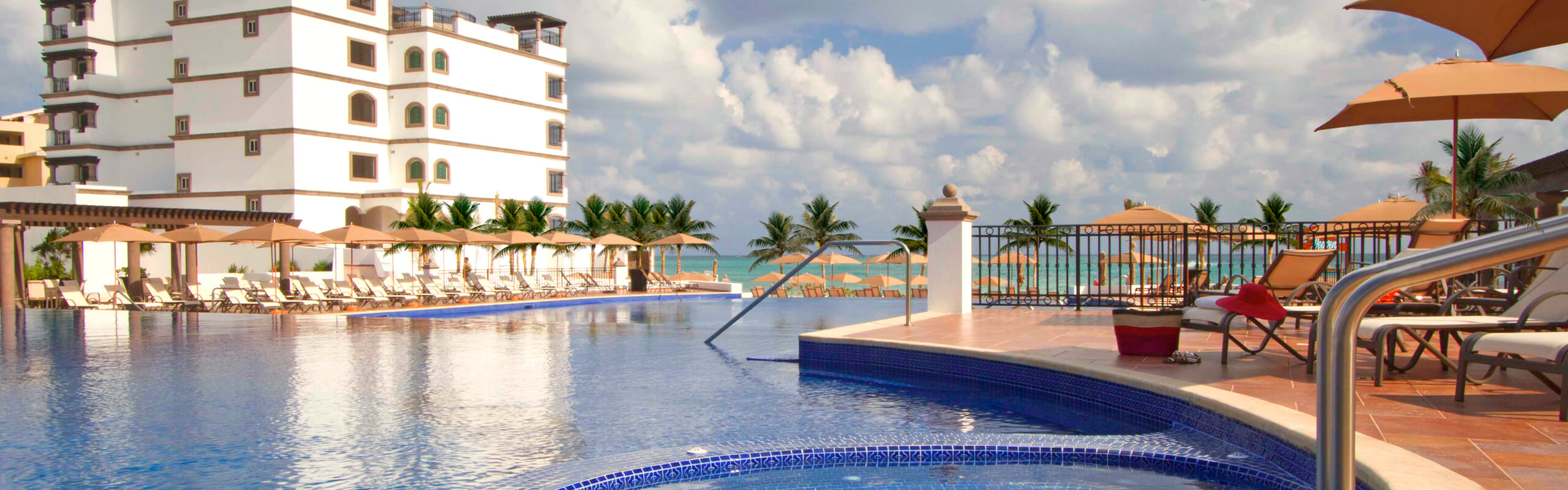 Cool off in four magnificent pools at Grand Residences Riviera Cancun