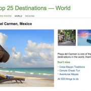 Playa del Carmen in Trip Advisor's Top 25 World's Best Destinations 2016