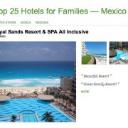 The Royal Sands & Grand Residences make Trip Advisor Top 25 Family Hotels in Mexico listing