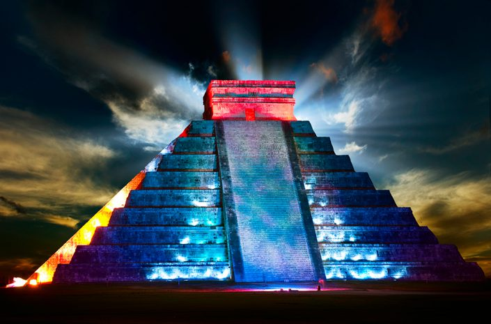 Chichen Itza by Night Light & Sound Show