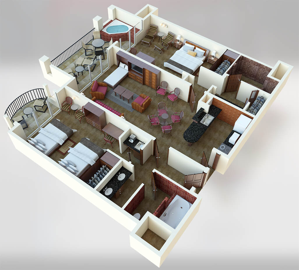 Villa De Cancun Floor Plans