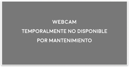 Webcam temporalmente no disponible por mantenimiento