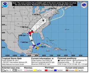 Tropical Storm Nate October 6 - Royal Resorts