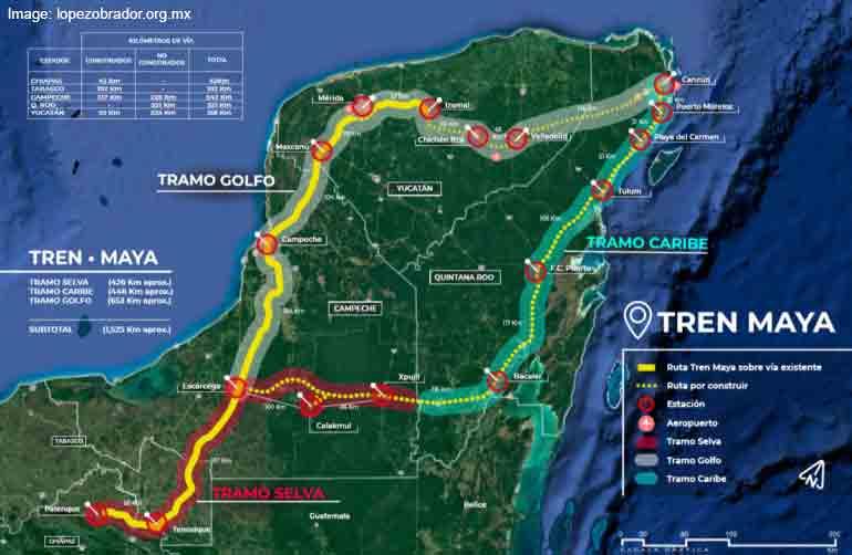 Maya World Map.Train Travel Planned For The Maya World Royal Resorts