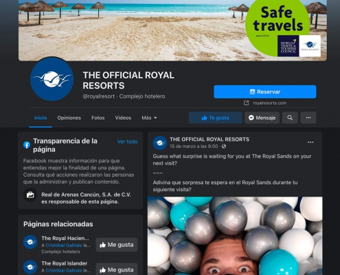Facebook Royal Resorts